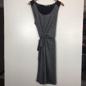 Athleta Faux Wrap Dress w/ Mesh Detail. SZ XL